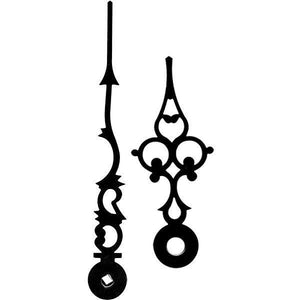 Accessories - Clock Hands- Black Filigree For Hermle 101M And 451 Movements, HND 451, 4 Inches