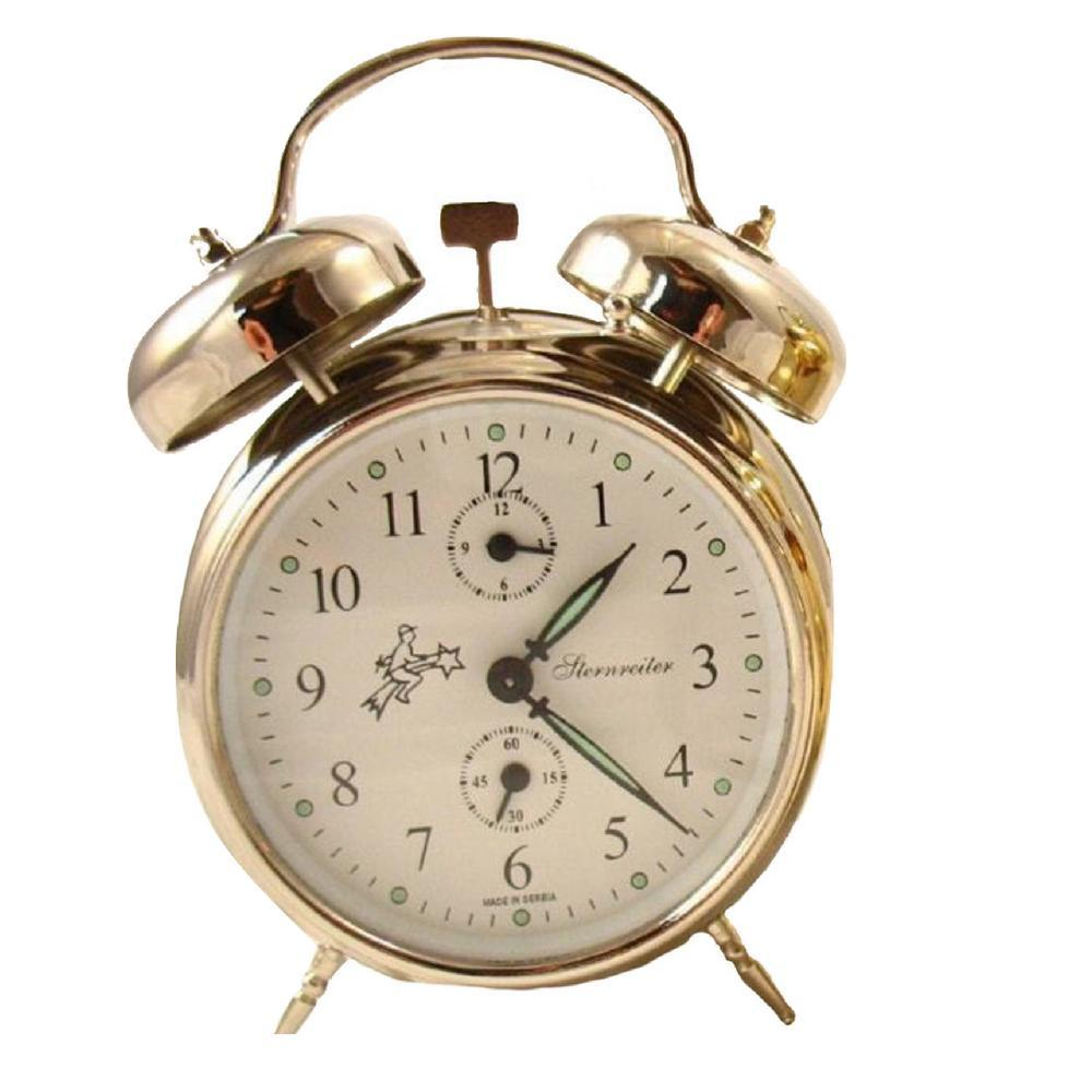 Alarm Clock - Sternreiter Double-Bell Alarm Clock MM 111 602 20, Nickel