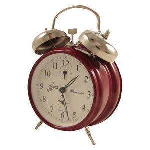 Alarm Clock - Sternreiter Double-Bell Alarm Clock MM 111 602 33, Dark Red