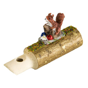 Black Forrest Whistle With An Adorable Squirrel, Hand Carved