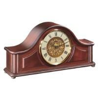 Classic Mantel Clocks - Hermle ACTON Mechanical Mantel Clock 21142070340, Mahogany