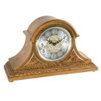 Classic Mantel Clocks - Hermle AMELIA Quartz Mantel Clock 21130I9Q, Light Oak
