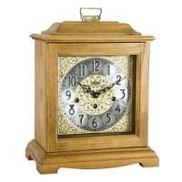 Hermle AUSTEN Bracket-Style Mechanical Mantel Clock 22518I90340, Light Oak