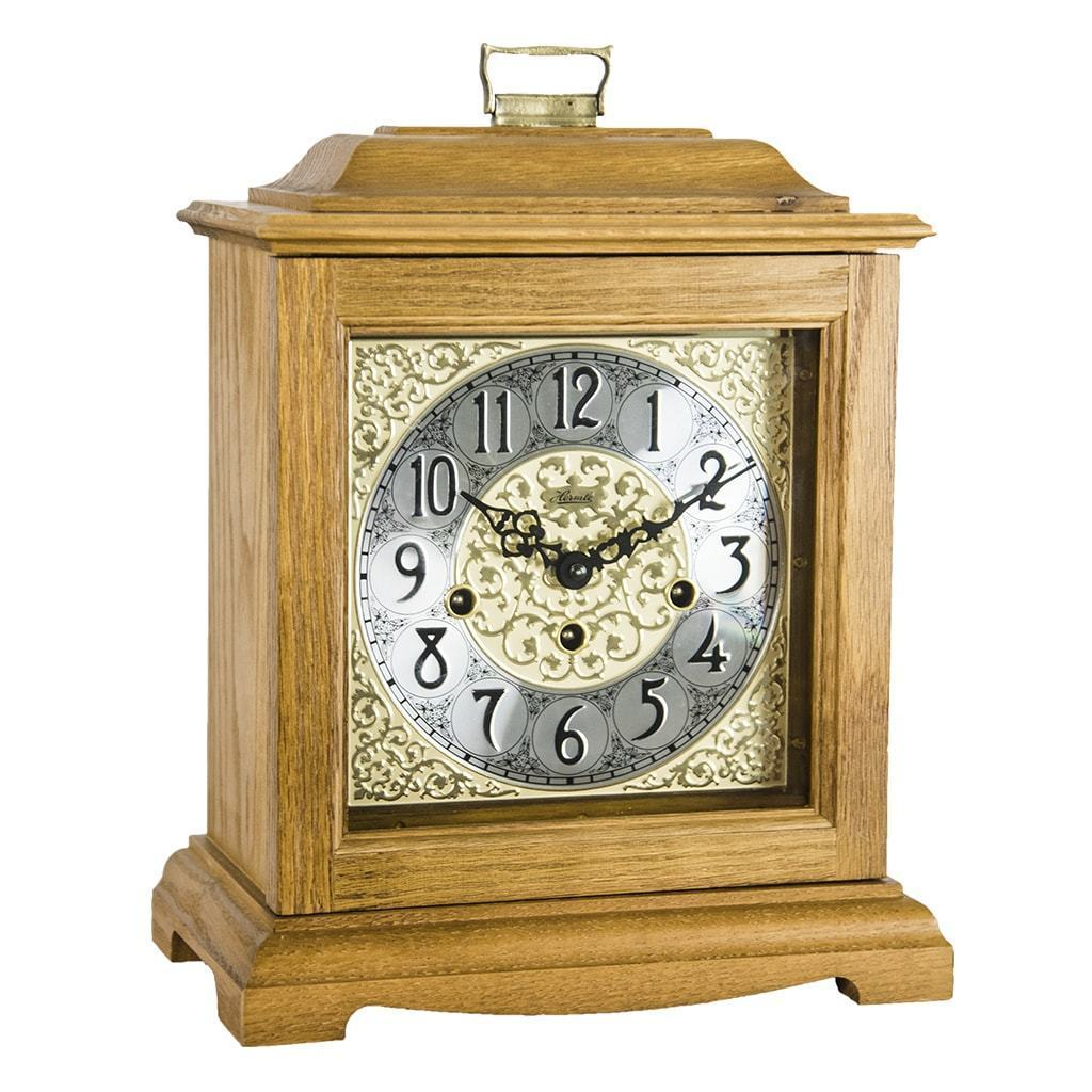 Light oak mantel clock