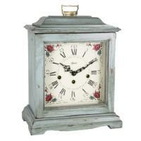 Classic Mantel Clocks - Hermle AUSTEN Bracket-Style Mechanical Mantel Clock 22518LB0340, Light Blue