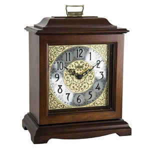 Classic Mantel Clocks - Hermle AUSTEN Bracket-Style Mechanical Mantel Clock 22518N9Q, Cherry