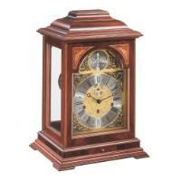 Hermle CORNELL Mechanical Mantel Clock #22848070352, Mahogany