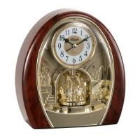 Classic Mantel Clocks - Hermle JESSICA Quartz Musical Motion Table Clock 62001