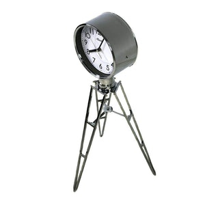 Classic Mantel Clocks - Hermle TRIPLICITY Quartz Mantel Clock #45014, Chrome Plated Tripod