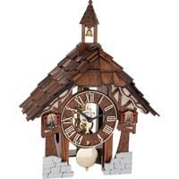 Hermle Black Forest THEIA Cuckoo Clock in Brown, with Strike on the Hour, 23029-030711