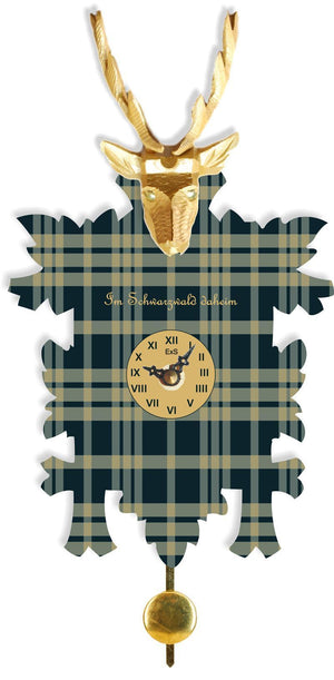 Cuckoo Clock - Hermle HAMISH Quartz Time Only Whimisical Black Forest Cuckoo Styled Clock, Model 67000