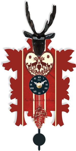 Cuckoo Clock - Hermle HELEN Quartz Time Only Black Forest Cuckoo Styled Clock, Model 69000
