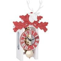 Cuckoo Clock - Hermle OTTO Black Forest Clock In Red And White With Brass Movement, 23031-000721