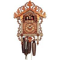 Cuckoo Clock - Romba BahnhŠusle 8359*, Inlay, Leaves, Dancers