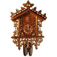 Rombach & Haas Bahnhäusle 8-day, Black Forest Cuckoo Clock, Half Hour and Full Hour Call, #8223