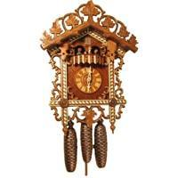 Cuckoo Clock - Rombach & Haas Bahnhäusle 8-Day Black Forest Cuckoo Clock With Half And Full Hour Call, #8359