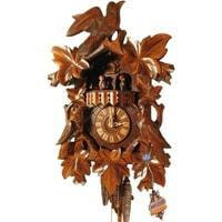 Rombach & Haas (Romba) BIRD AND LEAVES Model 1343 1-Day Black Forest Cuckoo Clock with Music Box