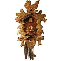 Cuckoo Clock - Rombach & Haas (Romba) FEEDING BIRDS Model 1208 1-Day Black Forest Cuckoo Clock