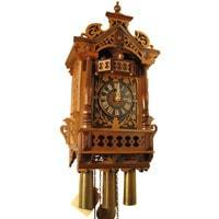 Cuckoo Clock - Rombach & Haas (Romba) FRETWORK Model 8364 8-DAY Black Forest Cuckoo Clock With Music Box, Animated Figures And Intricate Details