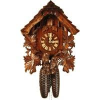 Rombach & Haas (Romba) HOOTING OWL Model 8245, 8-Day, Intricately Carved