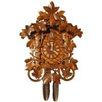 Rombach & Haas (Romba) LEAVES AND VINES Model 8225 8-Day Black Forest Cuckoo Clock, Chalet Style