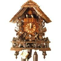 Rombach & Haas (Romba) LEAVES AND VINES Model 8347 8-Day Black Forest Cuckoo Clock, Chalet Style
