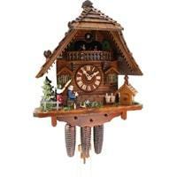 Rombach & Haas (Romba) Model 8370 ANGRY HAUSFRAU Black Forest Cuckoo Clock, 8-Day Movement,  Music Box, Whimsical Animated Figures and Dancers
