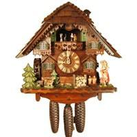 Rombach & Haas (Romba) WATERGIRL Model 8363, 8-Day Black Forest Musical Cuckoo Clock with Animated, Intricately Carved Figures