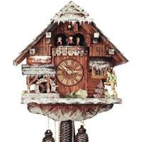 Rombach & Haas (Romba) WINTER Model 8318W, 8-Day Black Forest Cuckoo Clock, Snow Covered Chalet