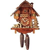 Rombach & Haas (Romba) WOODCHOPPER Model 8286, 8-Day Black Forest Cuckoo Clock, Chalet Style