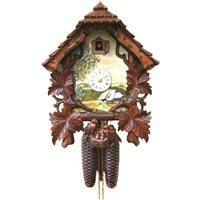 Cuckoo Clock - Rombach & Haas Schoene Aussicht Shield Black Forest Clock, Hand Painted,  #8263