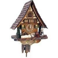 Sternreiter Alpenhorn Black Forest Mechanical Cuckoo Clock #1317