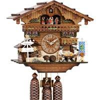 Cuckoo Clock - Sternreiter Bavarian Chalet Black Forest Mechanical Cuckoo Clock #8389