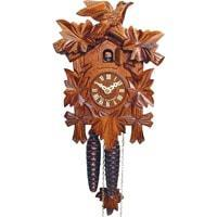 Cuckoo Clock - Sternreiter Bird And Leaf Black Forest Mechanical Cuckoo Clock #1200, Linden Wood