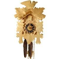 Cuckoo Clock - Sternreiter Bird And Leaf Black Forest Mechanical Cuckoo Clock #1200N