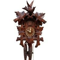 Sternreiter Bird and Leaf Black Forest Mechanical Cuckoo Clock #1209