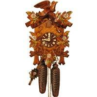 Cuckoo Clock - Sternreiter Bird And Leaf Black Forest Mechanical Cuckoo Clock #8200P