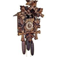 Sternreiter Bird and Leaf Black Forest Mechanical Cuckoo Clock #8301