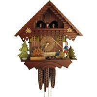 Cuckoo Clock - Sternreiter Fisherman Black Forest Mechanical Cuckoo Clock #1383