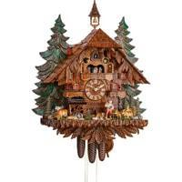 Sternreiter Happy Wanderer NEW Chalet Black Forest Mechanical Cuckoo Clock #8368