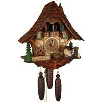 Cuckoo Clock - Sternreiter Milking Cow Black Forest Mechanical Cuckoo Clock #8387