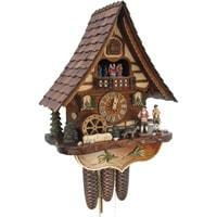 Cuckoo Clock - Sternreiter Trumpet And Drums Black Forest Mechanical Cuckoo Clock #8306