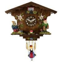 Cuckoo Clock - Trenkle Uhren ANNALIESSE Black Forest Swinging Girl Clock #56000 Sold By Hermle