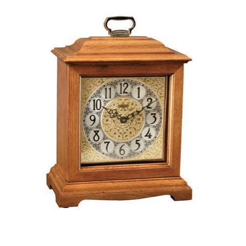 Hermle Bracket-Style Quartz Mantel Clock Complete DIY Kit, Oak