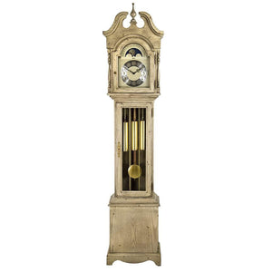Grandfather Clock - Hermle ALEXANDRIA Grandmother Clock 010890WH0451, Distressed White Finish