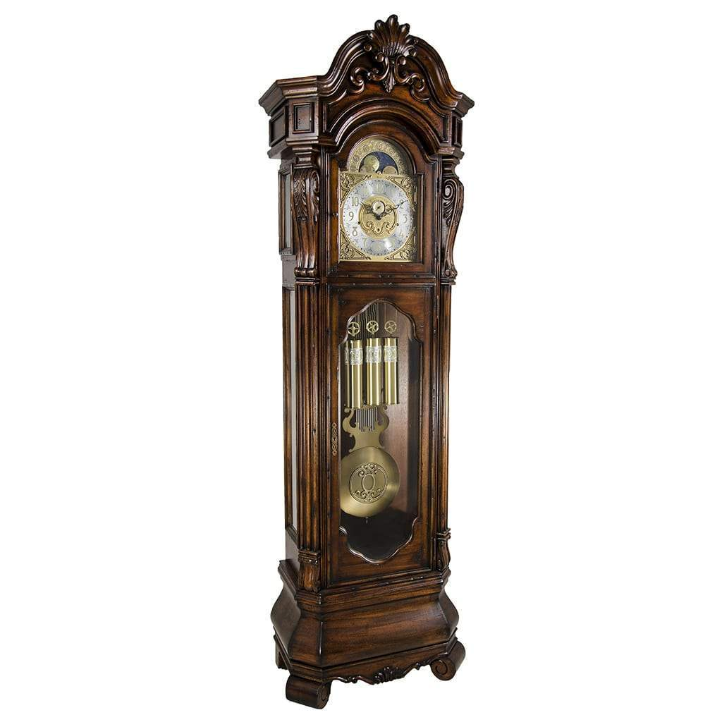 cherry arch home bellair driven cable ridgeway design decor clock dover contemporary floors grandfather floor clocks