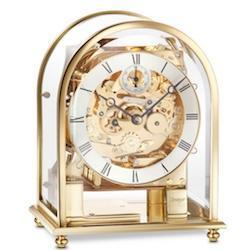 Mantel / Mantle / Table Clock - Kieninger 1226-01-04 MELODIKA Modern Carriage Mantel Clock With Triple Chimes In Polished Brass