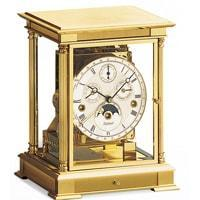 Mantel / Mantle / Table Clock - Kieninger 1240-06-05 WELLINGTON Mantel Clock With Triple Chimes, Calendar And Moonphase