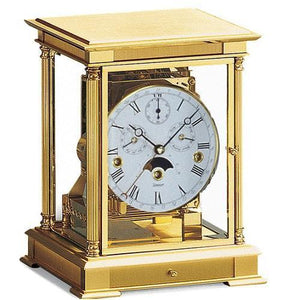 Mantel / Mantle / Table Clock - Kieninger 1240-06-05s WELLINGTON Mantel Clock With Triple Chimes, Calendar And Moonphase