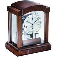 Mantel / Mantle / Table Clock - Kieninger 1242-22-03 Mechanical Mantel Clock With Triple Chimes Triple Chimes On An 8-Rod Gong And Multifunctional Dial In Burl Walnut